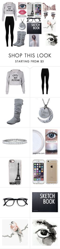 """""""It's a drawing kind of day"""" by kiara-fleming ❤ liked on Polyvore featuring Wolford, Lime Crime, Casetify, Speck and Design Letters"""