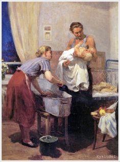 Агабабаева-Шебашева Валентина Алексеевна (род. 1927) «Дома» 1955