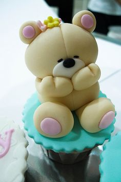 Forever Friends Blushing Bear Cupcake