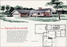 Mid Century Modern House Plans | 1960 Mid Century Modern Ranch - The Beachwood - Liberty Ready Cut Home ...