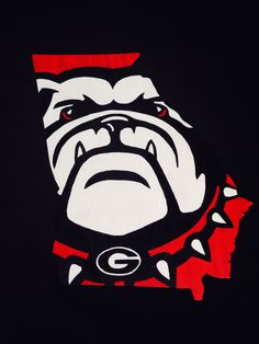 "University of Georgia Bulldogs sign made from wood. Approximately 18"" tall. This handmade and hand painted sign is for sale. Message me for info."