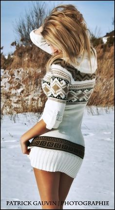 Sweater dress-i would wear with leggings, super cute