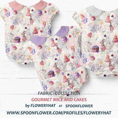 Baby Mouse, Mice, Spoonflower, Floral Tops, Kids Fashion, Collections, Wallpaper, Children, Fabric
