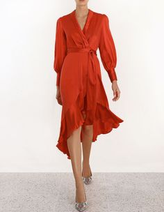 0b08049646 Zimmermann Wrap Dress. Model Image. Fits true to size take your normal size  Our