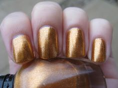 Metallic Mango is a bronze foil