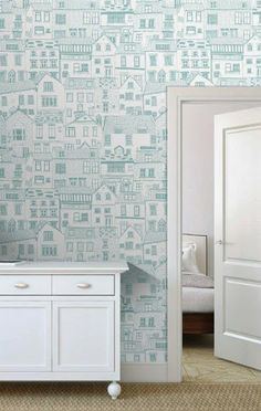 wallpaper - Jessica Hogarth (via print & pattern)