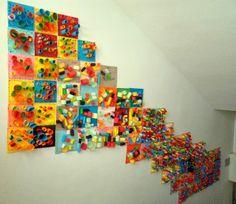 Kindergarten Art, Preschool Art, Arte Elemental, Arts And Crafts, Paper Crafts, Ecole Art, Art Lessons Elementary, Collaborative Art, Art Classroom