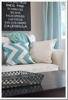 paint color: agreeable gray {sherwin-williams}  fabric: waverly ellis
