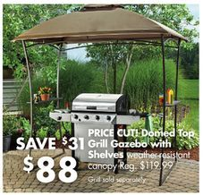 Domed Top Grill Gazebo With Shelves From Big Lots 8800 SAVE 31