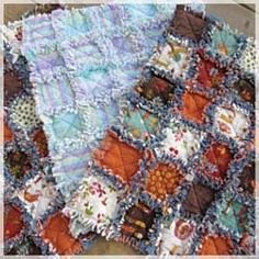 Rag Quilt My Granddaughter and I are making one of these for her. They are so easy for beginners and teens too!