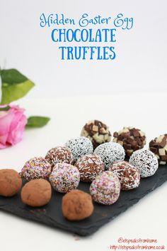 hidden easter egg chocolate truffles