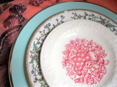 Mismatched China 3 Piece Centerpiece or Place by TopDrawerFinds, $10.00