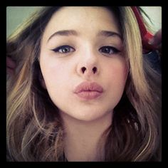 Those sweet Chloe lips that are begging to be kissed...<3<3<3