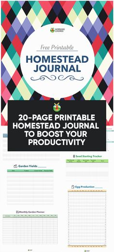 Free Printable Homestead Journal to Boost Your Productivity The best way to keep a homestead organized is a homesteading notebook. It helps keep records, keep track year to year, have organized plans and so much Homestead Survival, Survival Skills, Survival Stuff, Wilderness Survival, Survival Guide, Organic Gardening, Gardening Tips, Arizona Gardening, Garden Planner
