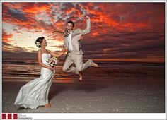 Sunset wedding photo's