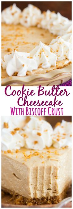 Cookie Butter Cheesecake with Biscoff Crust pin 1