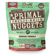 Primal Pet Foods Freeze-Dried Canine Chicken Formula for Dog Bug Out Bag