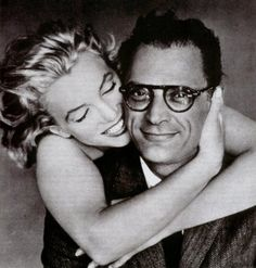 Marilyn Monroe and Arthur Miller (1957), by Richard Avedon (via avedonanderte) Note to my sons: Once upon a time it was very, very cool to be a writer.