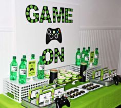 on top gaming systems - Xbox, PlayStation, Switch. Xbox Party, Game Truck Party, Party Games, 10th Birthday Parties, Birthday Games, Birthday Party Themes, Birthday Ideas, Videogames, Video Game Party