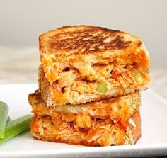 Buffalo chicken grilled cheese - YUM!!! Lunch tomorrow!!!