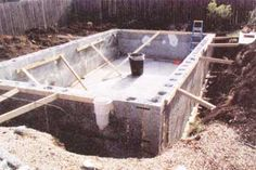 You can use Rasta blocks made of cement and recycled polystyrene to build a conventional pool with vertical sides. Establish your plant beds around the outside perimeter to naturally filter and clean your pool. Natural Swimming Ponds, Building A Swimming Pool, Small Swimming Pools, Natural Pond, Small Pools, Lap Pools, Indoor Pools, Backyard Pools, Pool Decks