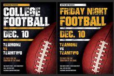 American Football Flyer Template by Hotpin on Creative Market - Sport Flugblatt Design, Menu Design, Flyer Design, Restaurant Flyer, Promotional Flyers, Print Templates, Design Templates, Party Flyer, American Football
