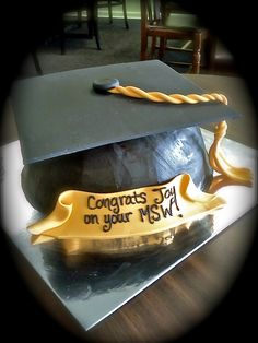 Graduation Hat Cake.  Veronica's Custom Bakery in Greenwood, MS