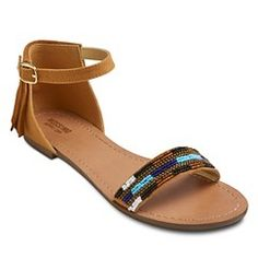 ed064ebd7b04 Women s Festival Beaded Ankle Strap Sandals - Honey 9.5. Get surprising  discounts up to 50