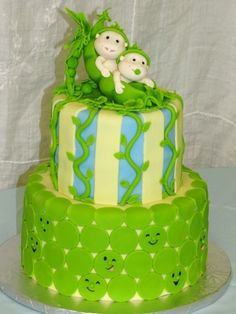 Two Peas In A Pod Cake By EBCakes on CakeCentral.com