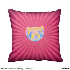 Zazzle have the perfect ferret gift for any occasion. Explore our fab gifts today! Ferret, Random Stuff, Cushions, Rainbow, Throw Pillows, Creative, Gifts, Toss Pillows, Toss Pillows