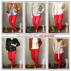 Tutor My Style- how to wear red skinny jeans