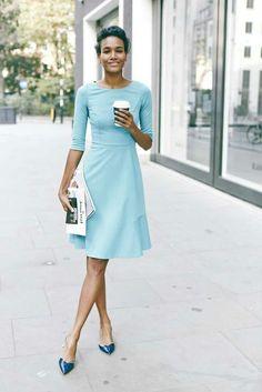 awesome Какое выбрать голубое платье? — Свадебные, вечерние, летние модели