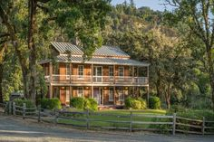 Villa Montana, An Exquisitely Curated 500 acre European Estate - San Francisco Business Times Tuscan Grill, Horseback Riding Trails, Ivy Wall, Arch Doorway, Marble Island, Joe Montana, Outdoor Spa, Cypress Trees, Horse Stables
