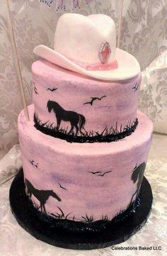 Pretty Cowgirl cake.