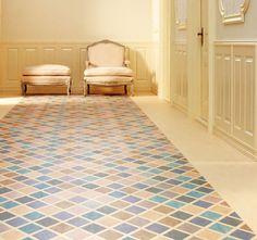 fliesen muster dekorative pvc matte farbe orange und grau 179 pvc teppich k che mat. Black Bedroom Furniture Sets. Home Design Ideas