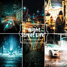 Low Lights, City Lights, Night Photos, Night City, City Streets, Light Photography, Lightroom Presets, Instagram Feed, Adobe