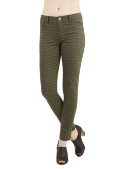 Morning, Noon, and Night Pants in Olive, @ModCloth