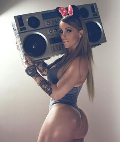 TRAINING MOTIVATION:  GHETTO BLASTER GHETTO BOOTY FANTASY With Curvy Inked Fitness Model Barbara Revolver : Health Exercise #Fitspiration #Fitspo FitFam - Crossfit Athletes - Muscle Girls on Instagram - #Motivational #Inspirational Physiques - Gym Workout and Training Pins by: CageCult