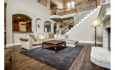 two story living room | Two-story living room!! | Home: A Place to Entertain | Pinterest