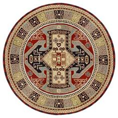 Sparta Red Round: 6 Ft. x 6 Ft. Rug