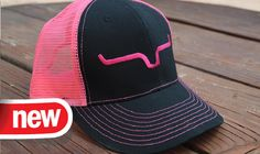 Pink Snap Back Kimes Ranch Trucker Hat $25 Available at http://www.kimesranch.com/womens-hats