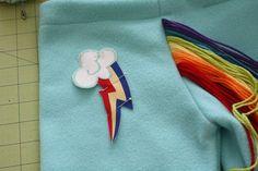 Rainbow Dash costume-the pants
