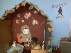 A super Percy's Hut classroom role-play area photo contribution. Great ideas for your classroom! Year 1 Classroom, Early Years Classroom, Eyfs Classroom, Classroom Decor, Teaching Displays, Classroom Displays, Teaching Ideas, Autumn Activities, Craft Activities