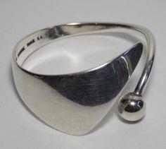 Bent Knudsen Sterling Silver Modernist Bracelet - #EB228
