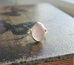 """Купить Кольцо """"Нежность"""" розовый кварц - натуральные камни, розовый, серебро 925…"""