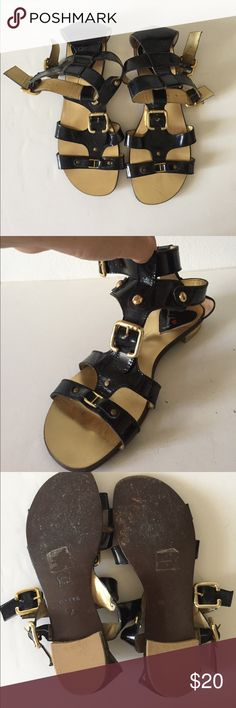 Gladiator sandals Used the shoes a lot (imperfections shown) but are still in excellent conditions!  Shoes are made in India. Shoes Sandals