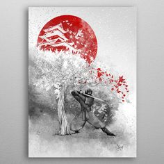 The warrior and the wind by Marine Loup | metal posters - Displate
