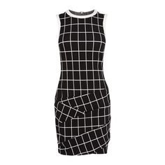 CHECK JERSEY MINI DRESS (9,555 PHP) ❤ liked on Polyvore