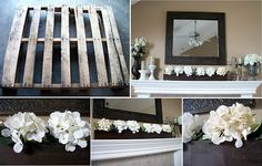 The long flower box on the mantle is made from a pallet! Just think how many you could get from just 1 pallet!