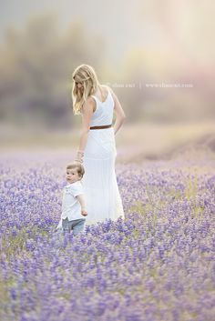 mother and son, mother and son portraits, mother and son walking, natural family pictures, beautiful light, lupines